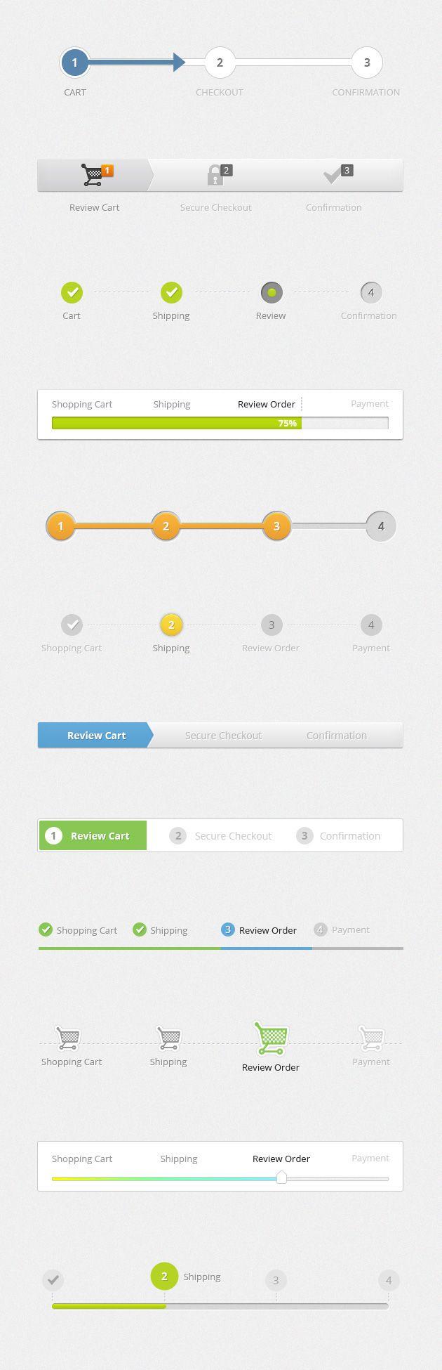 """다음 @Behance 프로젝트 확인: """"Progress Bar Templates"""" https://www.behance.net/gallery/46018391/Progress-Bar-Templates"""