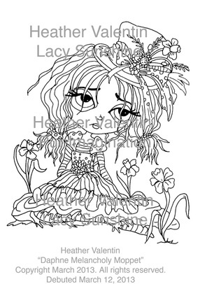 heather coloring pages - 57 best heather valentin images on pinterest digi stamps