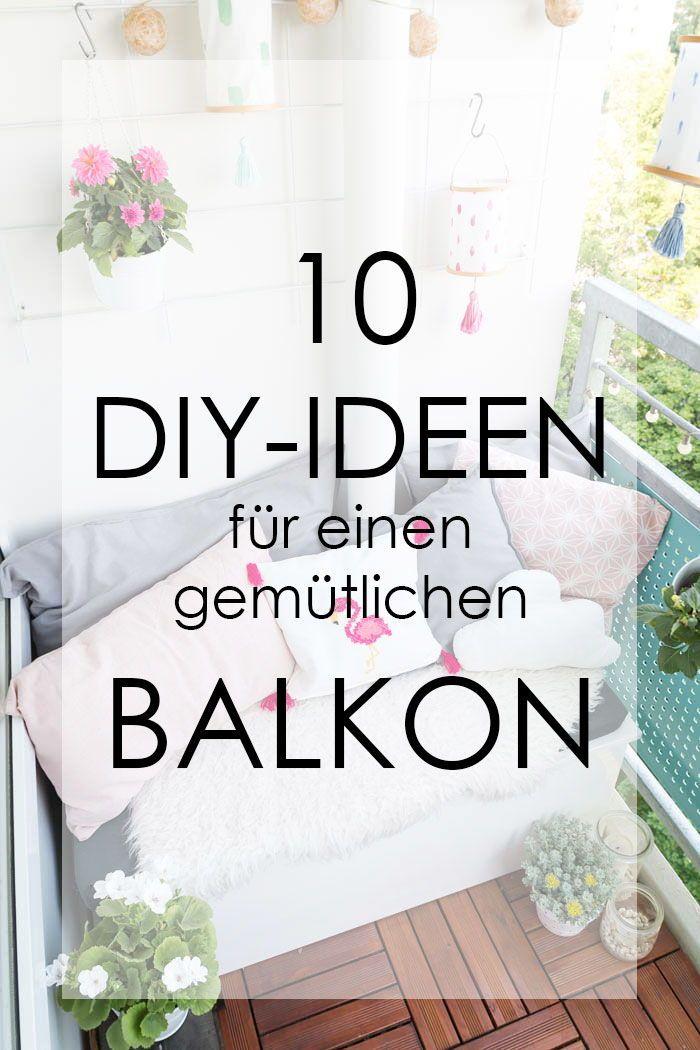 Balkon Ideen: 10 Tipps für einen gemütlichen Balkon – Entdecke tolle Tipps und… – ✂ Get Crafty