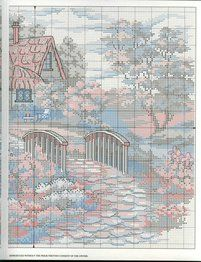 Cross-stitch Cottage, part 3.. color chart on part 2