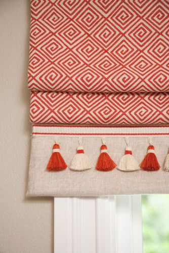 Playful roman blind