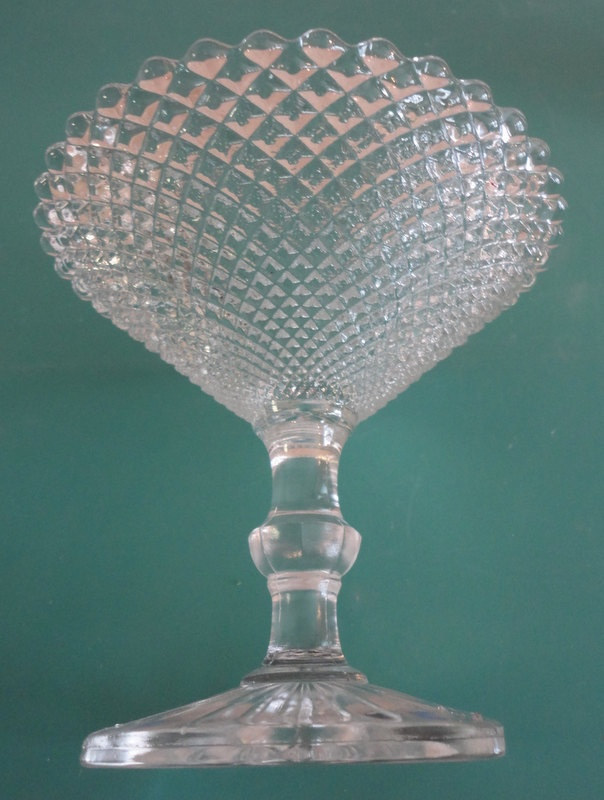 Miss America Diamond Compote with Round Foot.   via Etsy.