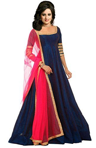 Fashionable latest gown style floor length dress material in Tapeta silk . Alterable upto size 42\