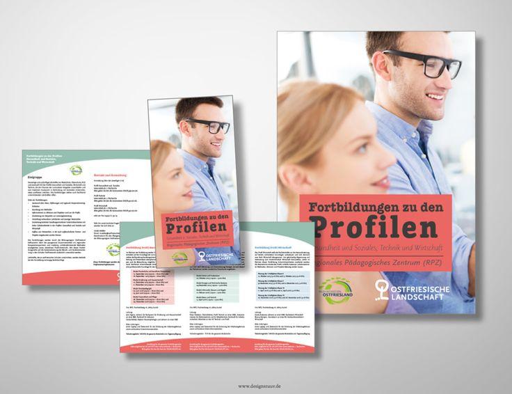 Folder und Plakat Fortbildungen © www.designstuuv.de | Gestaltung und Druck für Ostfriesische Landschaft RPZ, Aurich