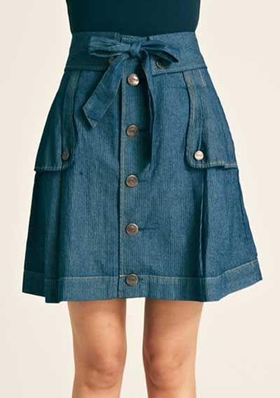 Como Usar Saias Jeans Femininas: Fotos, Modelos, Looks