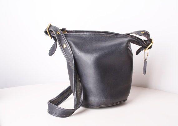 Vintage Coach Leather Bag  Coach Purse  1970s Coach by aiseirigh, $145.00
