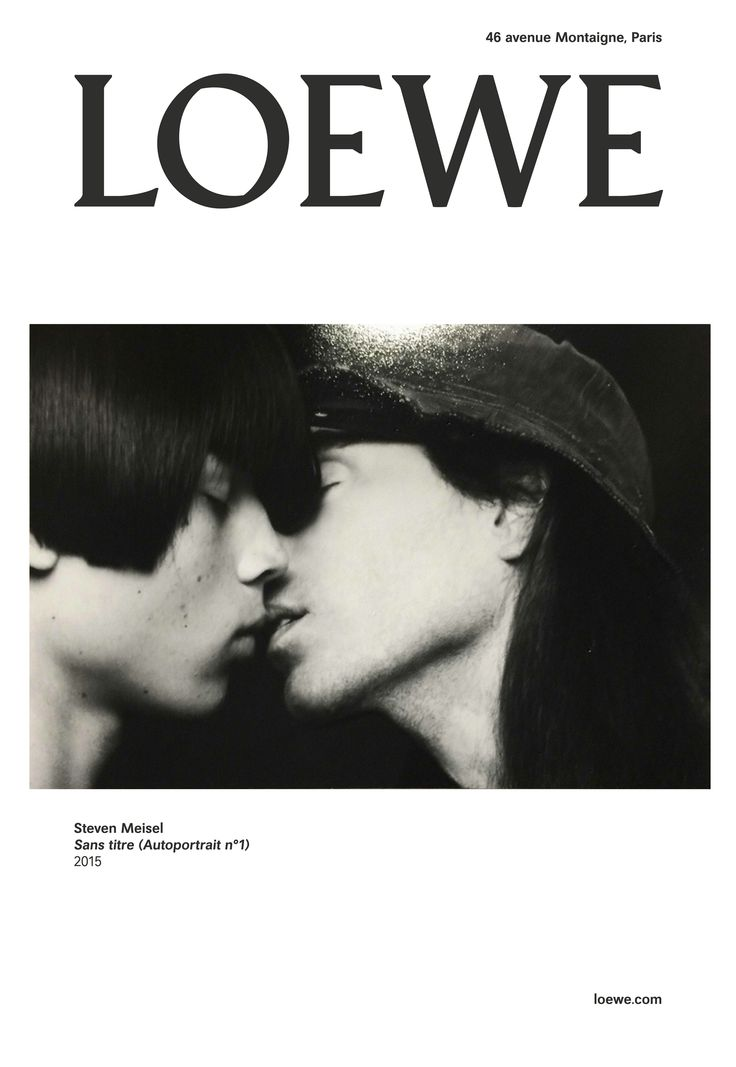 LOEWE Autumn Winter 2015 2016 Campaign featuring unreleased selfportrait by #StevenMeisel.   By embedding the archival shots, exclusively released by Meisel, the personal history of a photographer inextricably linked with the house and instrumental in shaping contemporary fashion as we know it, is interwoven into the landscape of LOEWE, becoming one of the many threads that inform the brand today.