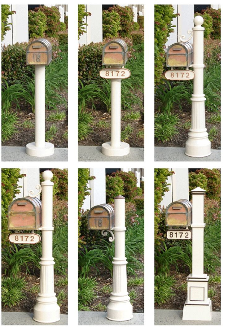 Streetscape Mailboxes | Craftsman Mailbox Post (post only) | Residential Mailbox