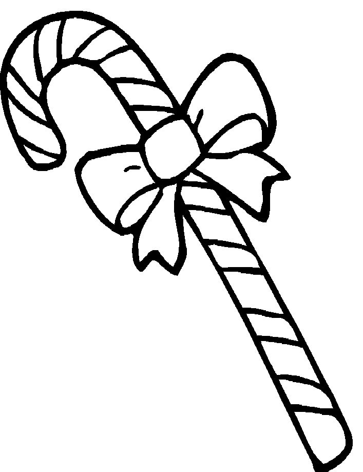 Printable Candy Cane Coloring Pages | Printables | Pinterest