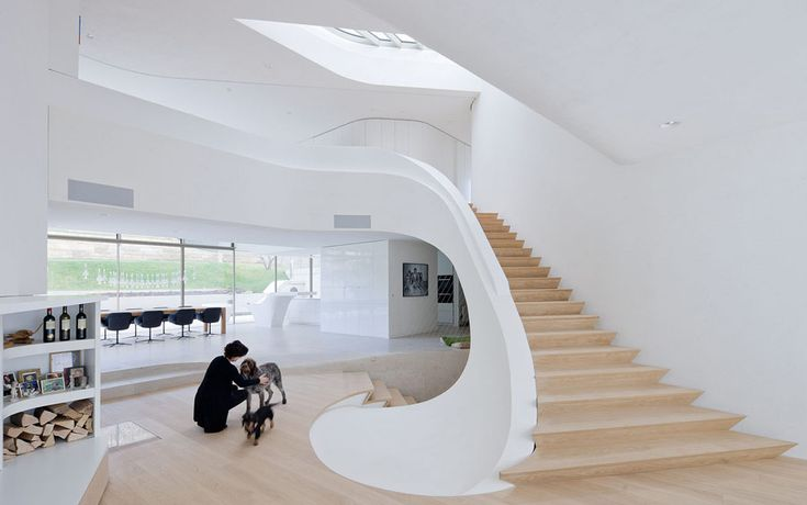 This ultra modern home by UNStudio is a masterpiece. I don't know a lot about construction, taking one look at all of the curves makes me think