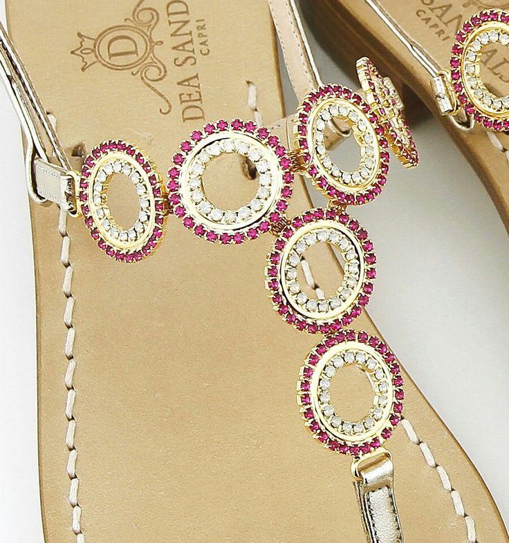Capri sandals hand  made jewel  Dea Sandals  Capri collection www.deasandals.com