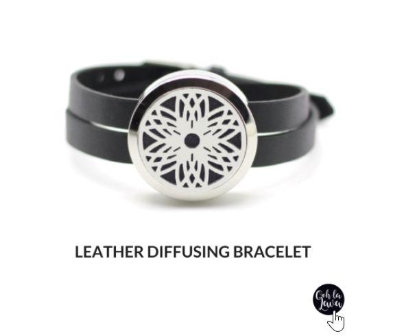 Essential oil diffusing bracelet.