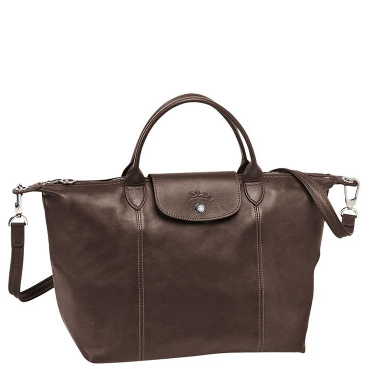 Longchamp - ' Le Pliage cuir' Medium
