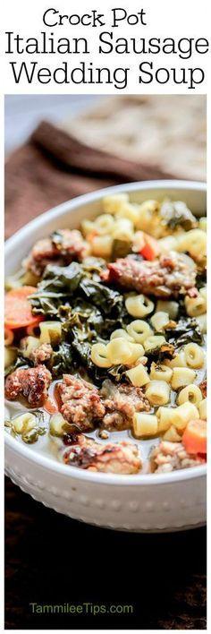 Crock Pot Italian Sausage Wedding Soup