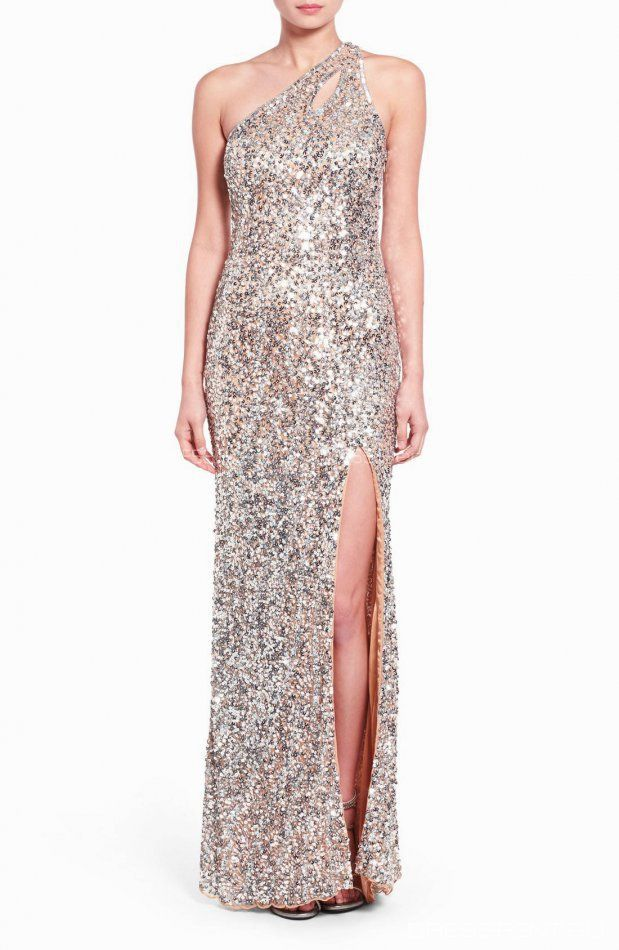 Платье - Mac Duggal | Sequin One Shoulder Gown