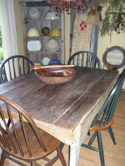 best 25+ primitive tables ideas on pinterest | antique kitchen