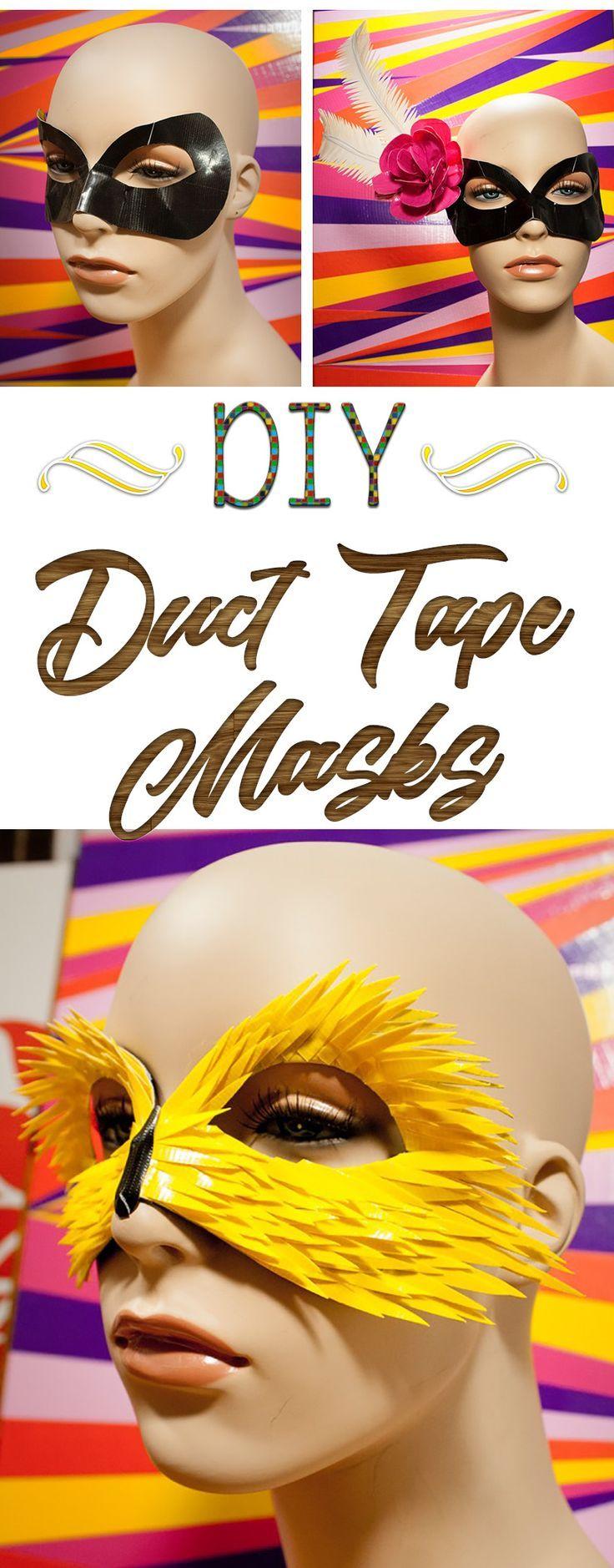 DIY duct tape masks                                                                                                                                                                                 More