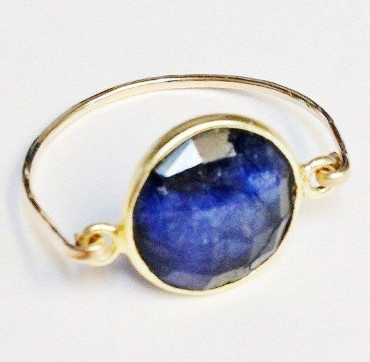 Sapphire Ring    Blue Sapphire Ring   14K Gold by SpiralsandSpice