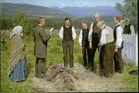 Peasant Burial, Erik Theordore Werenskiold