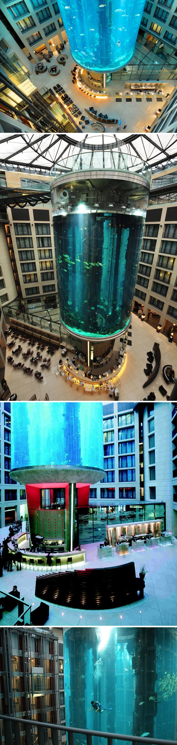 15 must see aquarium architecture pins radisson hotel berlin hotel and hotels berlin germany. Black Bedroom Furniture Sets. Home Design Ideas
