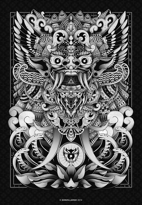 BARONG - BALI on Pantone Canvas Gallery