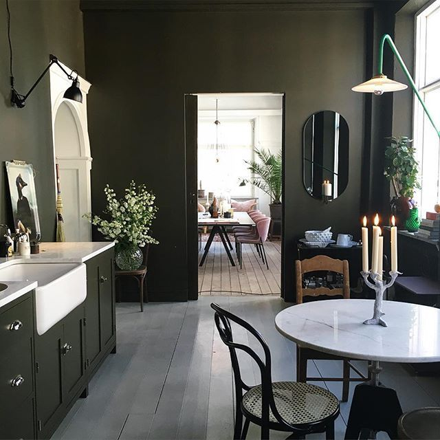 Dark Green Kitchen: Best 25+ Olive Green Walls Ideas On Pinterest