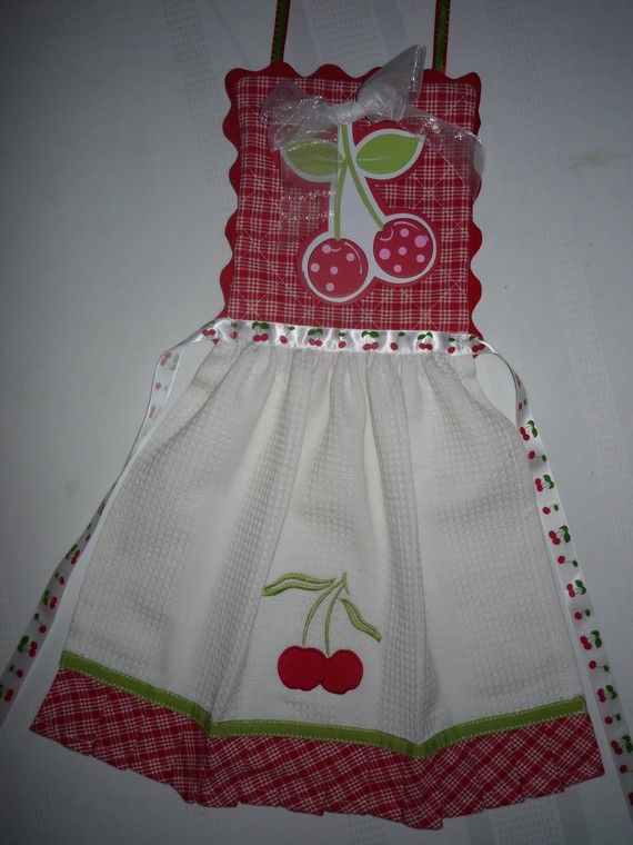 Adorable cherry apron