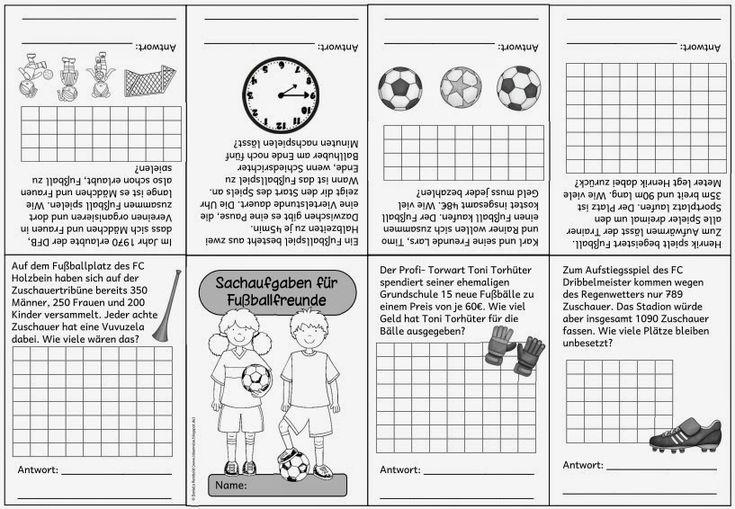 """Kleines Rechenfaltheft mit Sachaufgaben zum Thema """"Fußball""""   Das kleine Rechenfaltheft  enthält bunt gemischte Sachaufgaben rund ums Thema..."""