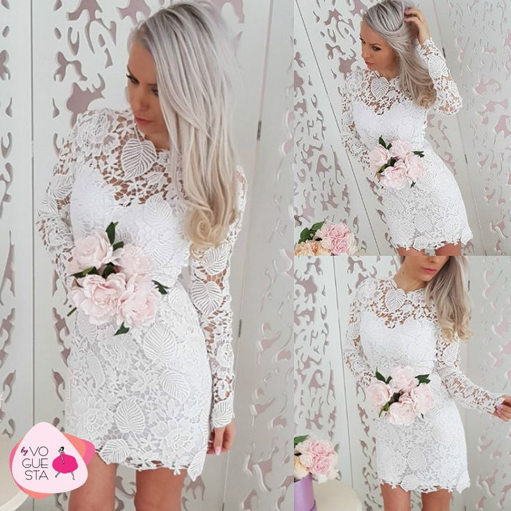 Be you, be pure. All lace on you. #allinwhite #dress #lace