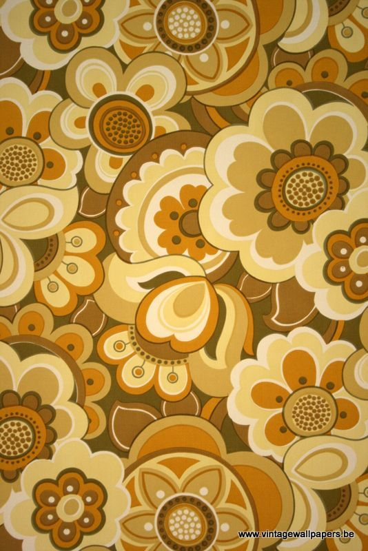 Original retro wallpaper & vinyl wallcovering from the sixties & seventies..we had something like this but different  colors!