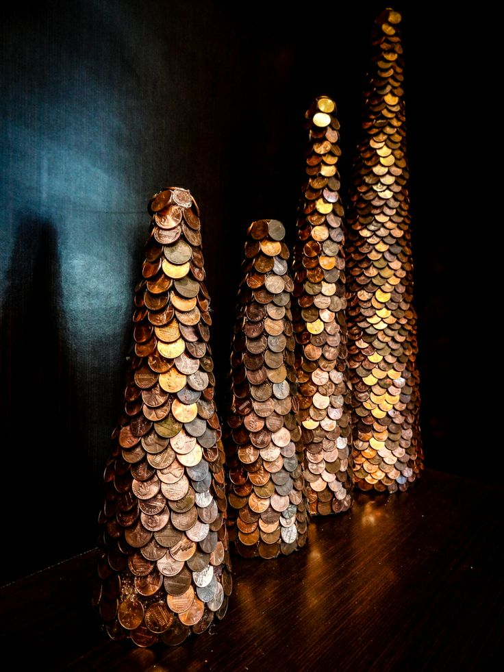 Pennies for Trees - Decorative ideas that will cost jusrt pennies to do #Decor