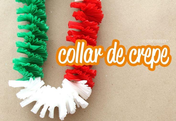 Collar de papel crepé: Fiestas patrias! (+playlist)
