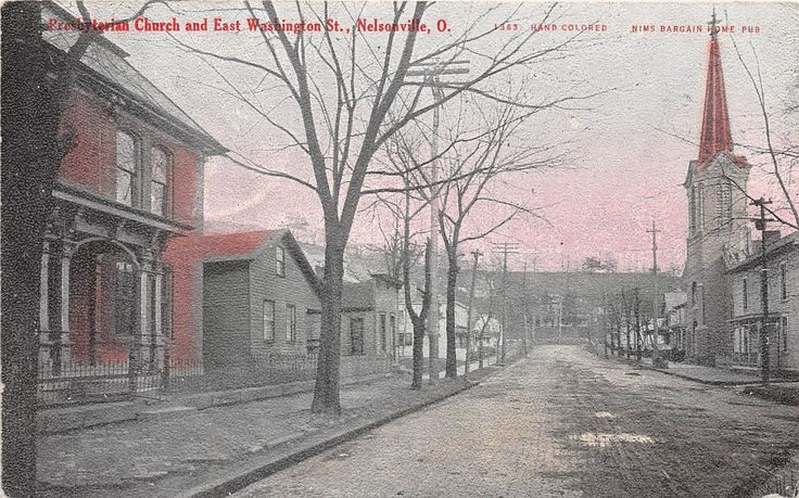 Ohio Postcard NELSONVILLE Athens County 1908 PRESBYTERIAN