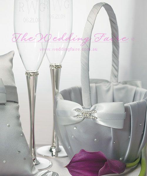 Platinum By Design Flower Girl Basket - The Wedding Faire