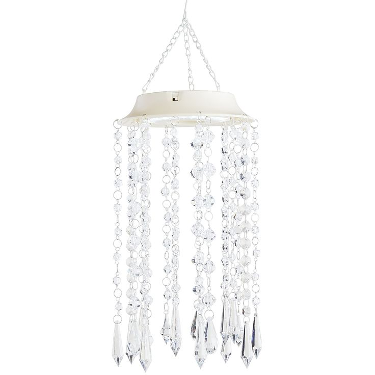 Clear LED Beaded Umbrella Pendant Light - Acrylic - Outdoor