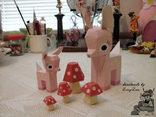 Handmade by Lissy Lou: Pink Paper Fawn