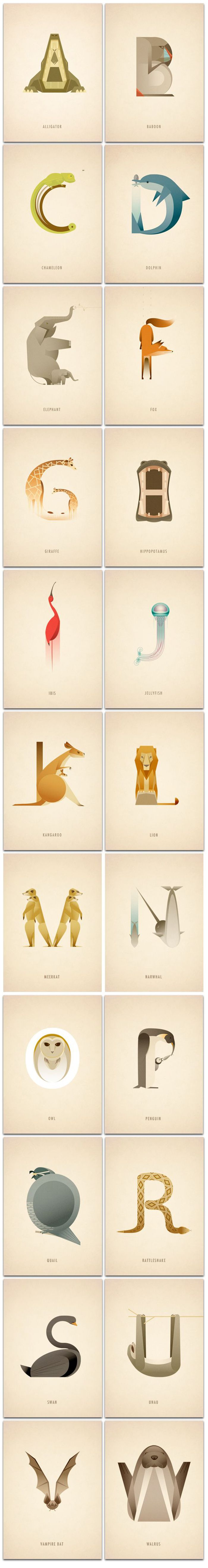 vintage animal typography