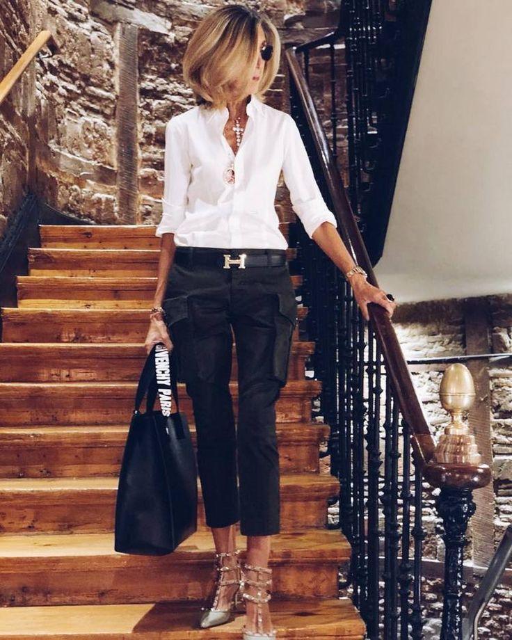 Chemise blanche – 6 Comment porter des looks différents