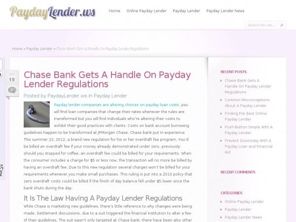 payday advance chase