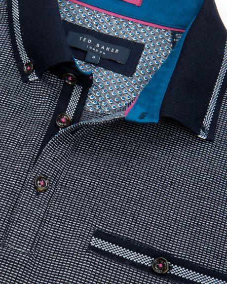 Jacquard polo - Navy   Tops & T-shirts   Ted Baker UK