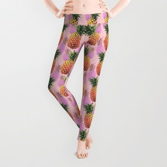 Juicy pineapple leggings - Front http://society6.com/product/juicy-pineapple-2jk_wall-clock#33=283&34=285