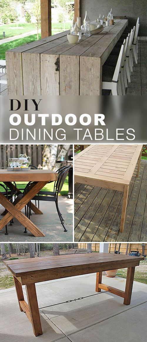 These DIY outdoor dining table projects will blow you away! Explore this blog post and check out the tutorials, ideas and projects for these gorgeous DIY Outdoor Dining Tables! #DIYoutdoordiningtables #outdoordiningtables #DIYdiningtables #DIY #diningtables #diningtableprojects