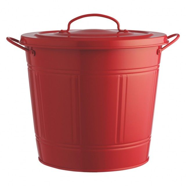 The Alto red kitchen bin is a solid, Habitat-designed archetypical kitchen bin with lid and carry handles.  A stylish addition to the kitchen, the small easy-to-clean bin is perfect for food recycling.  Part of the Alto range, the bin is available in different sizes and colours; mix and match them to suit different requirements, from general waste to recycling