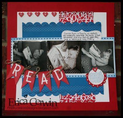 Pink Buckaroo Designs, Erica Cerwin Stampin' Up Demonstrator, San Antonio, TX: Scrapbook Pages