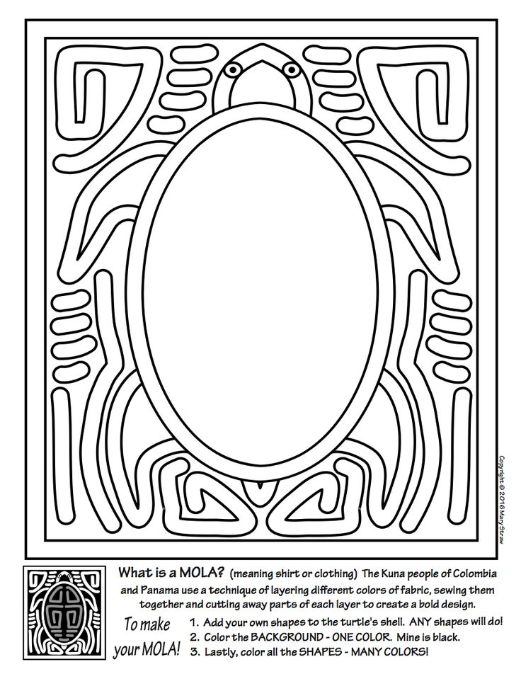 mola coloring pages - photo#25
