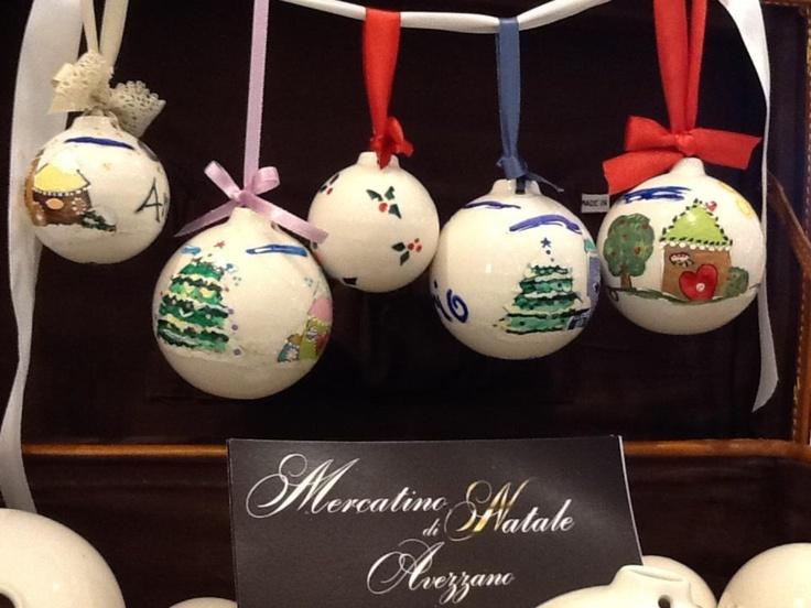 Christmas hand painting ball ...