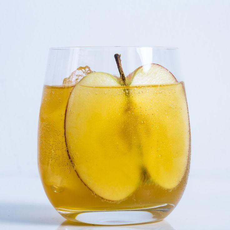 Hard Cider Spritz - Hard Cider, Fresh Cider, Lemon Juice, Rye Whiskey, Aperol, Apple Slice