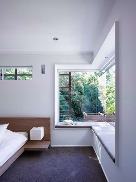 window seat, bed with nightstand | sunshine beach house, bark design architects