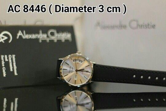ALEXANDRE CHRISTIE 8446 Harga IDR 900.000 Material : Leather black - ring silver Diameter 3 cm Garansi mesin 1 tahun international
