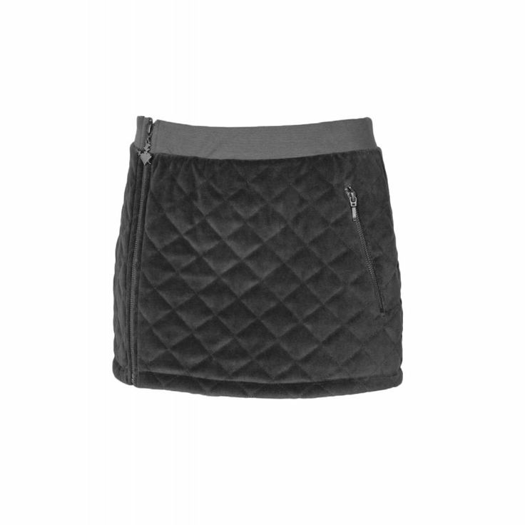QUILTED VELOUR SKIRT